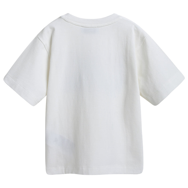 Boys & Girls White Heart Maxi T-shirt