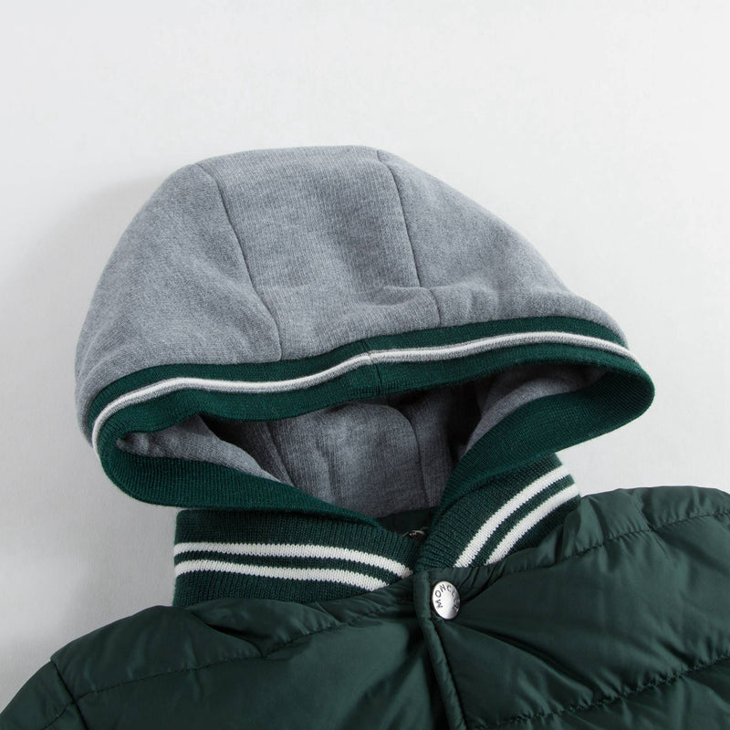 Boys Green 'Auberie' Down Padded Jacket