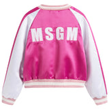Girls White & Pink Logo Jacket