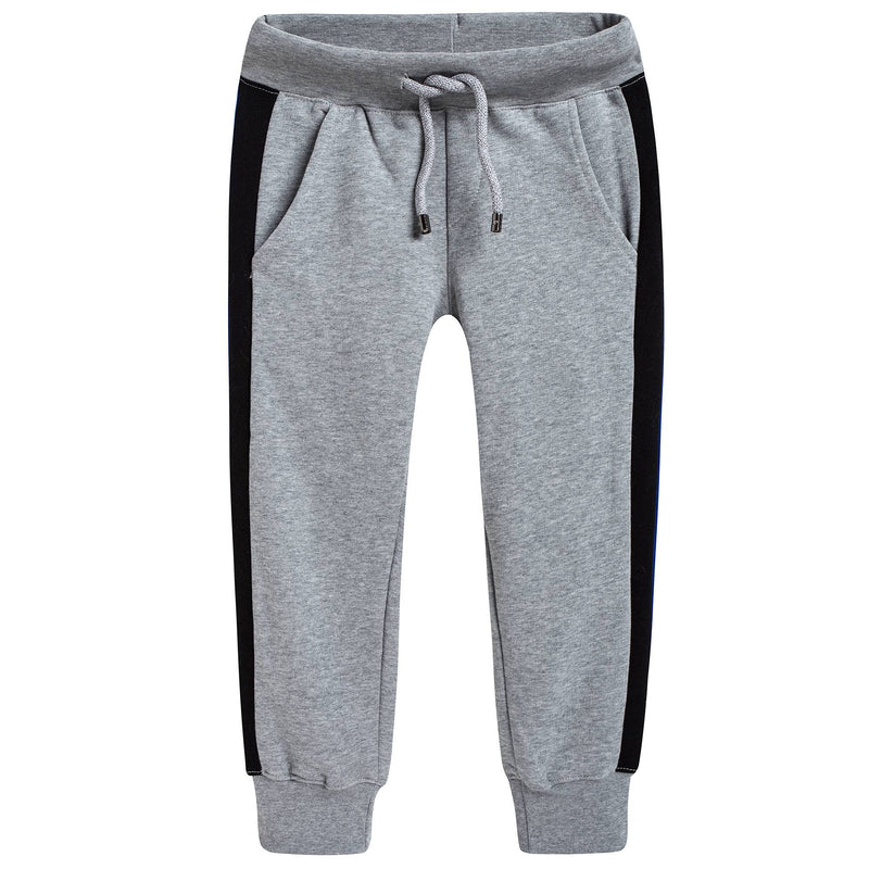 Boys Grey Cotton Tracksuit Trousers