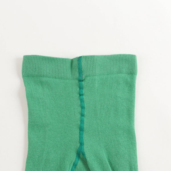 Baby Girls Green Cotton Tights