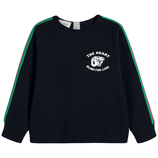 Baby Black Cotton Sweatshirt