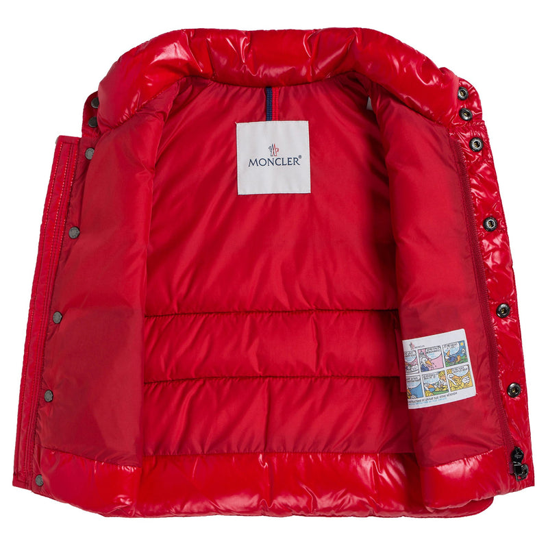 Baby Red Down Padded 'Tib' Gilet