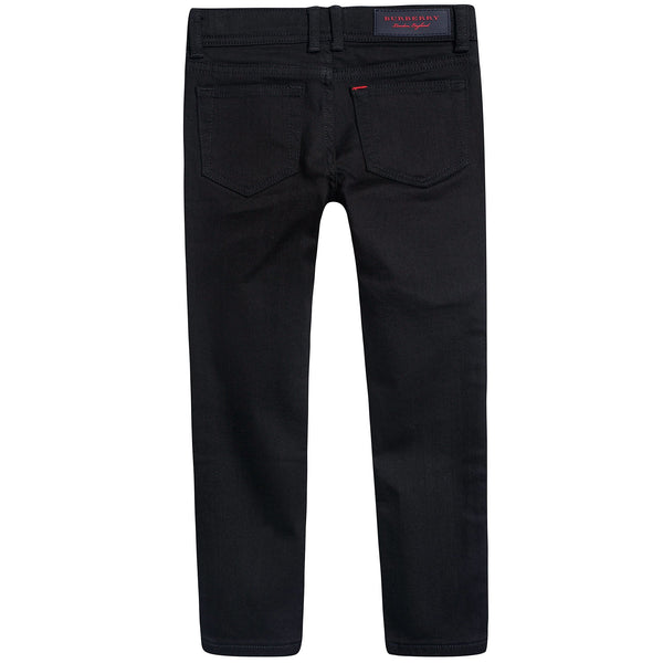 Girls Black Cotton Trousers