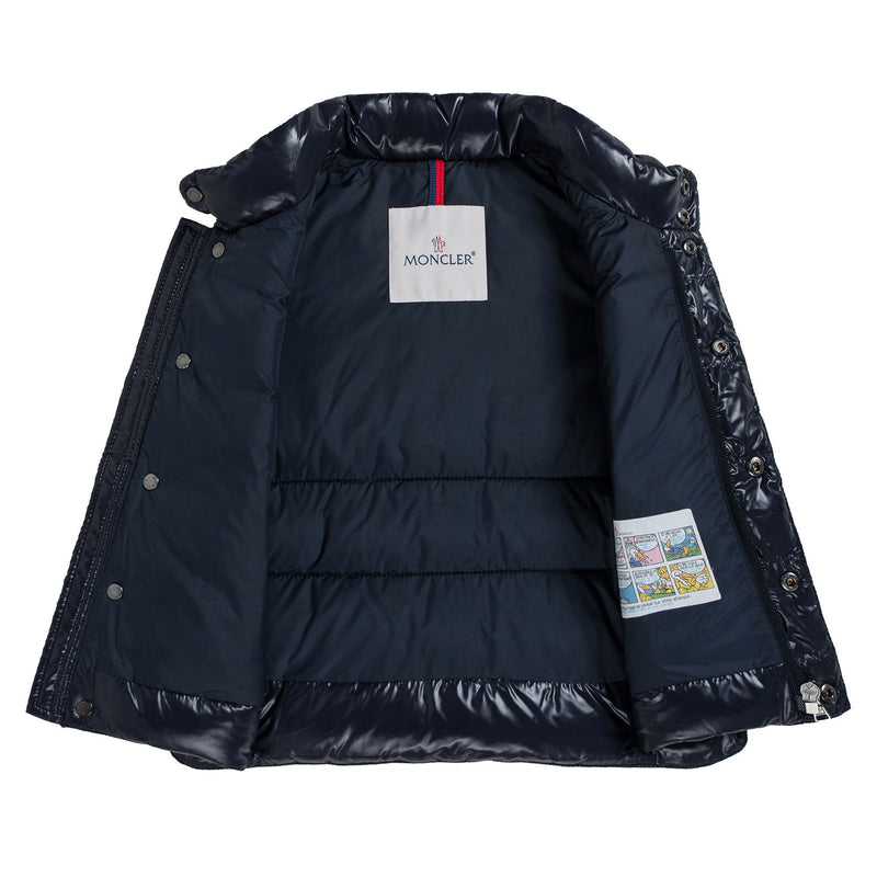 Baby Navy Blue Down Padded 'Tib' Gilet