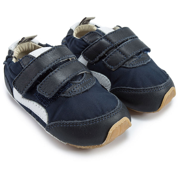 Baby Boys Navy Nylon Shoes