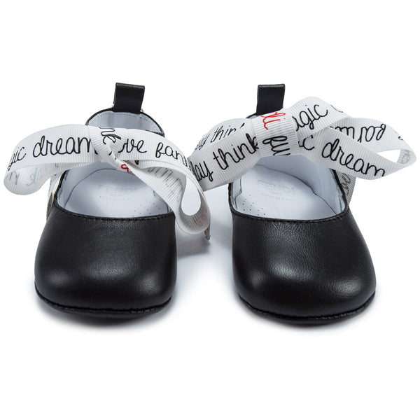 Baby Girls Black Vitello Shoes