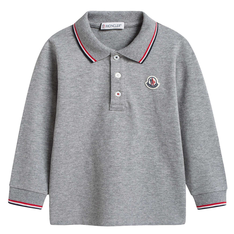 Baby Boys Grey Polo Shirt