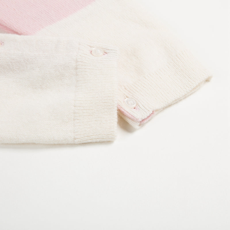 Baby Natural White Cashmere Overalls