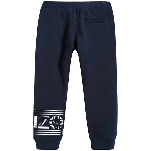 Boys Navy Logo Trousers