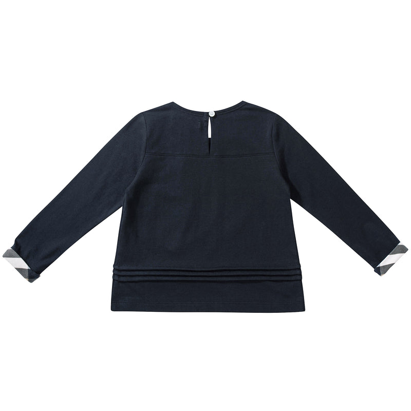 Boys  &  Girls   Navy  Blue   Cotton  T-shirt