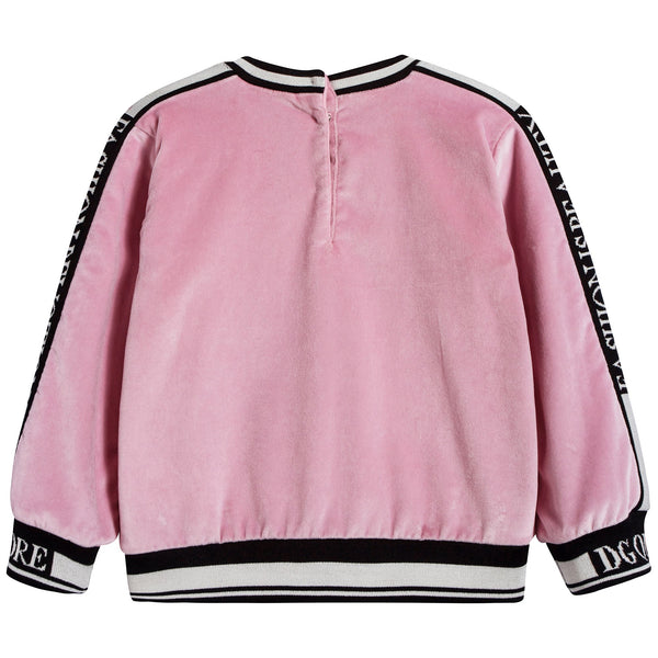 Baby Girls Light Pink Cotton Sweatshirt