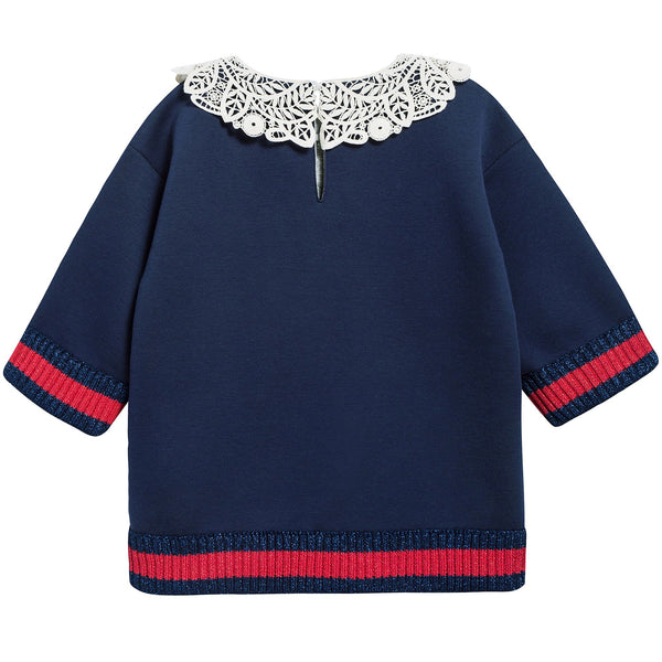 Girls Dark Indigo Neoprene Sweatshirt