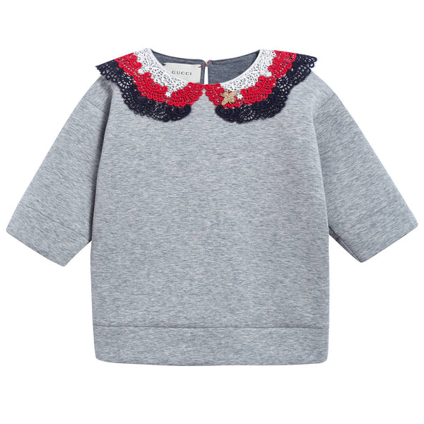 Girls Grey Neoprene Sweatshirt