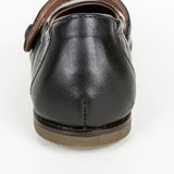 Girls Black Cowskin Leather Shoes
