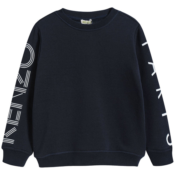 Boys Navy Logo Sweatshirt