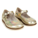 Girls Gold Cowskin Leather Shoes