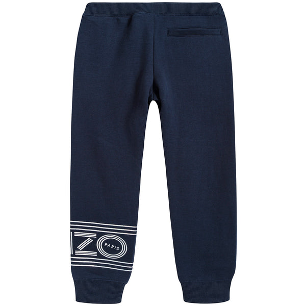 Girls Navy Logo Trousers