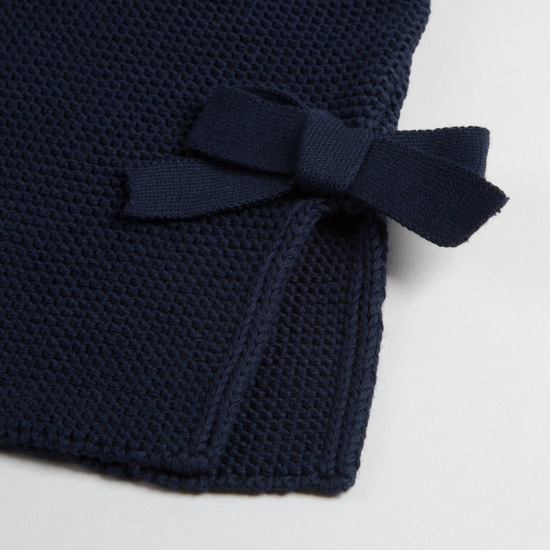 Girls Dark Blue Cotton Sweater
