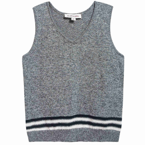 Baby Charcoal Cotton Knitwear Vest