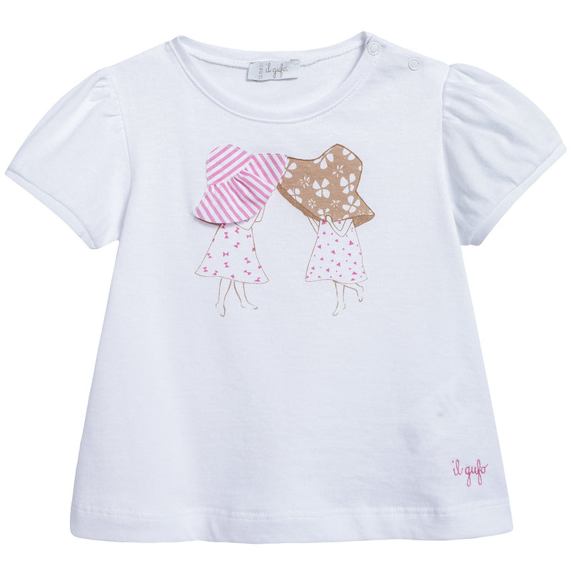 Baby Girls White T-shirt