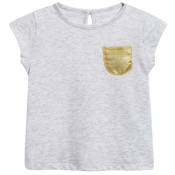 "Baby Marled Grey ""Jersey"" Cotton T-shirt"