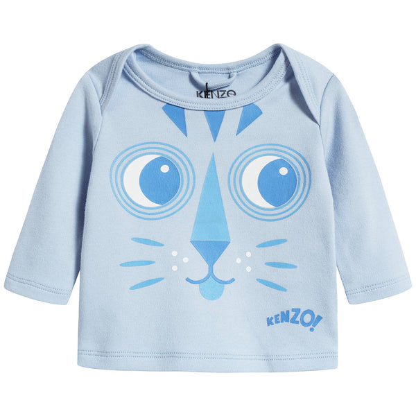 Baby Boys Light Blue Cotton T-shirt