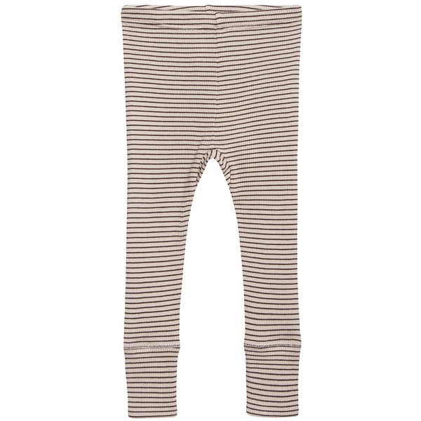 Baby Sand & Chocolate Stripe Cotton Jersey Trousers
