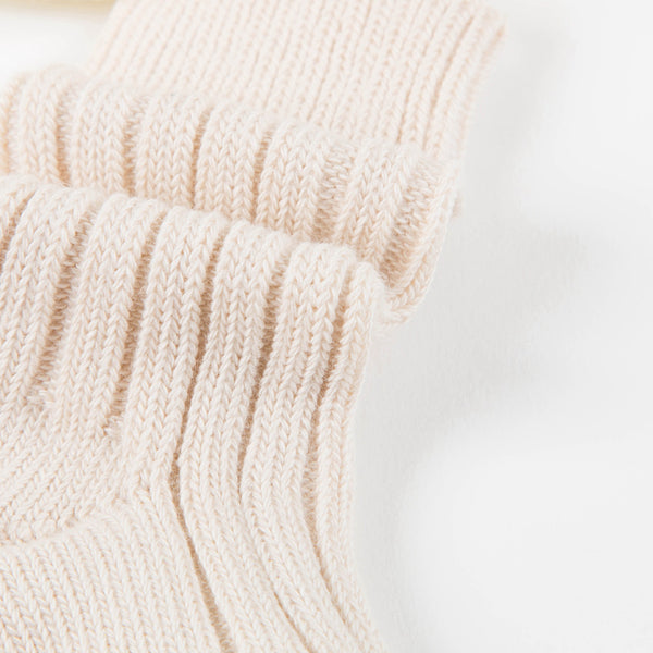 Baby Ecru Cotton Knitwear Socks