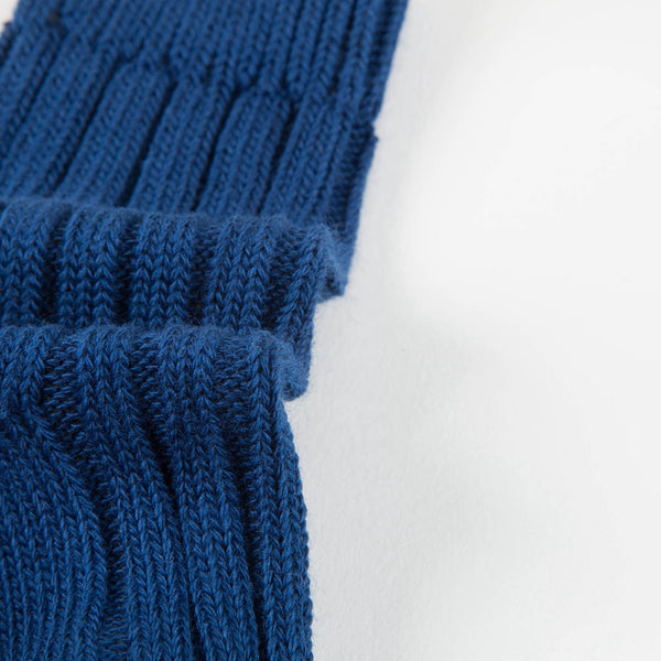 Baby Rich Blue Cotton Knitwear Socks