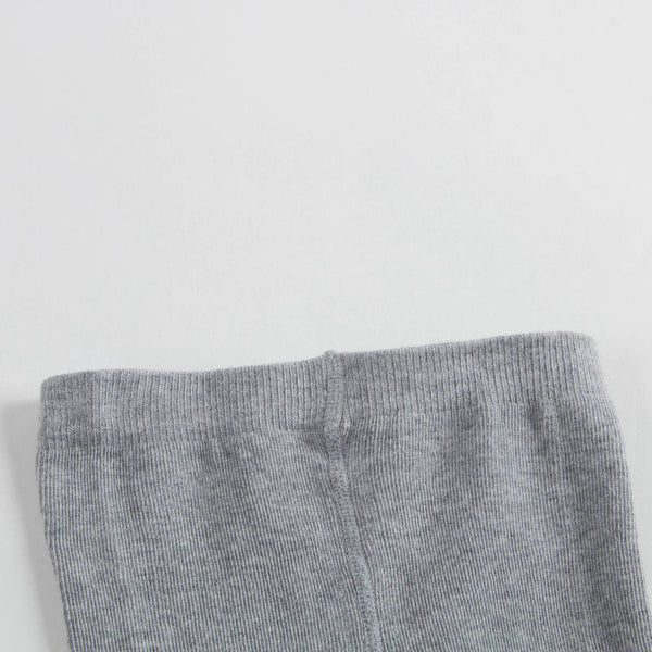 Girls Chine Grey Cotton Tights