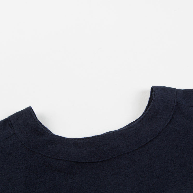 Girls Navy Blue Cotton Blouse