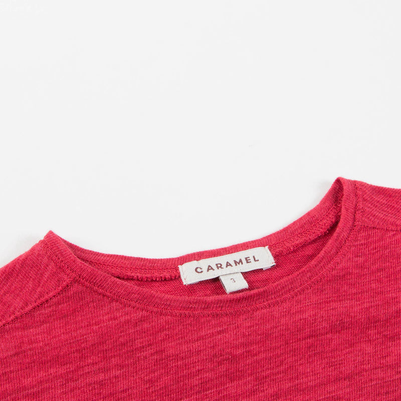 Girls Red Cotton Jersey Top