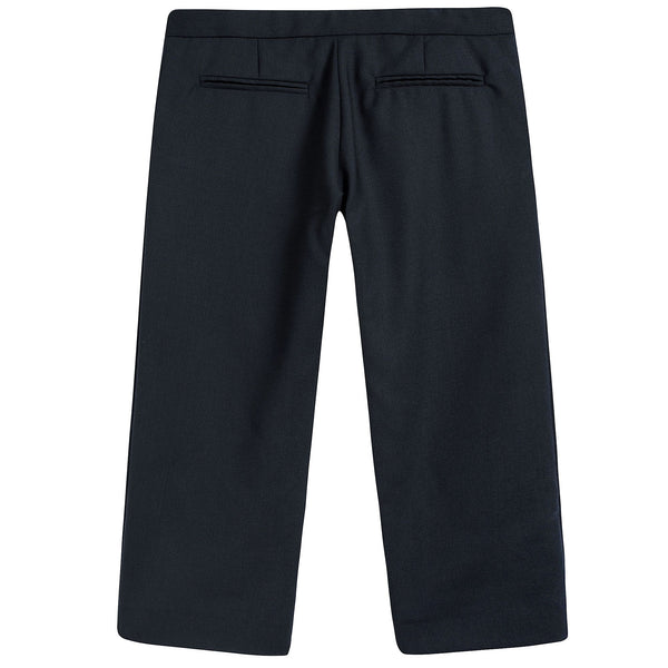 Girls Navy Blue Wool Trouser