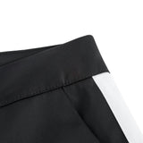 Girls Black Trousers With White Trim