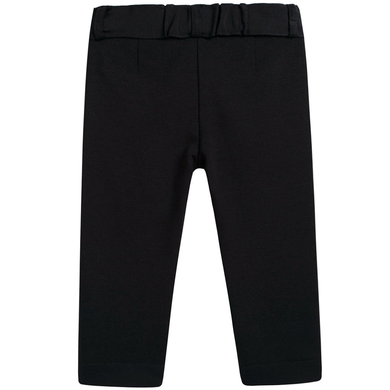 Girls Black Pants With Bow
