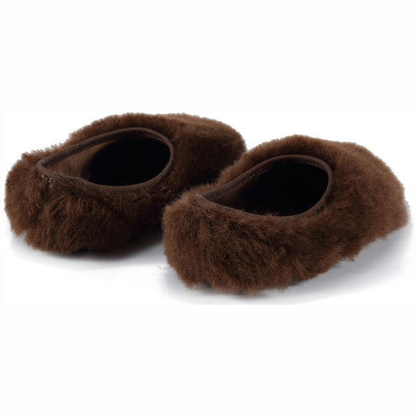 Baby Girls Dark Brown Shoes