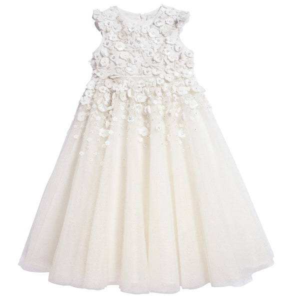 Girls White Advanced Custom Dress