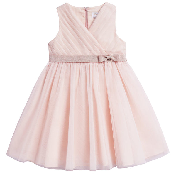 Girls Nude Clair Polyamide Dress