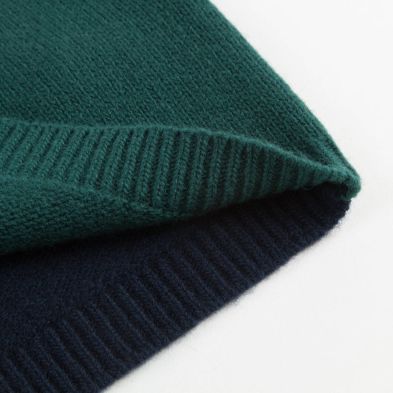 Boys Black & Green Wool Sweater