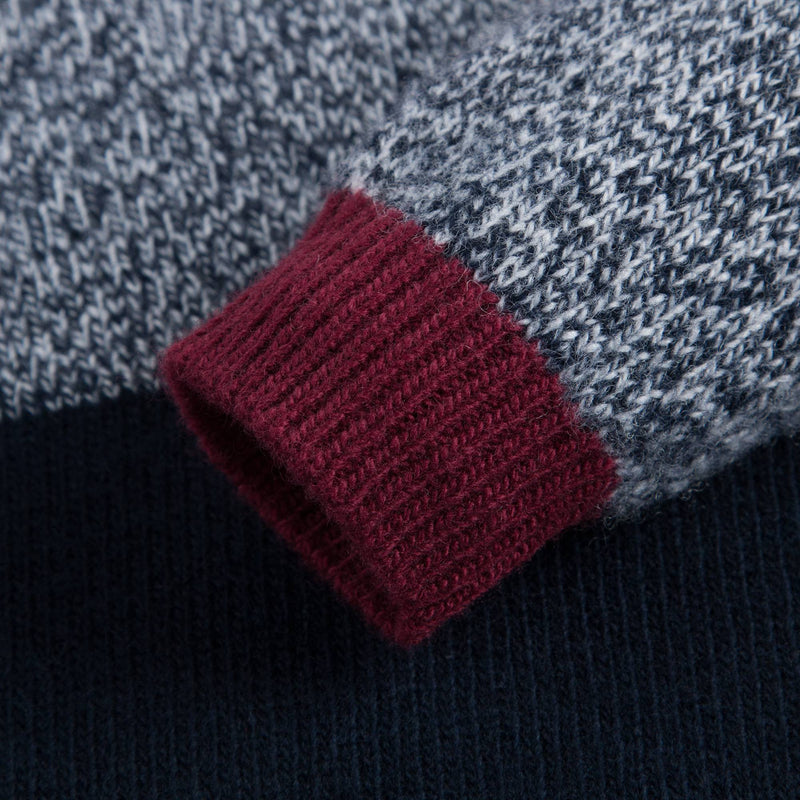 Boys Blue & Grey Wool Knitted Sweater
