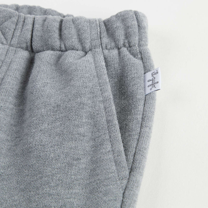 Boys Grey Cotton Trousers