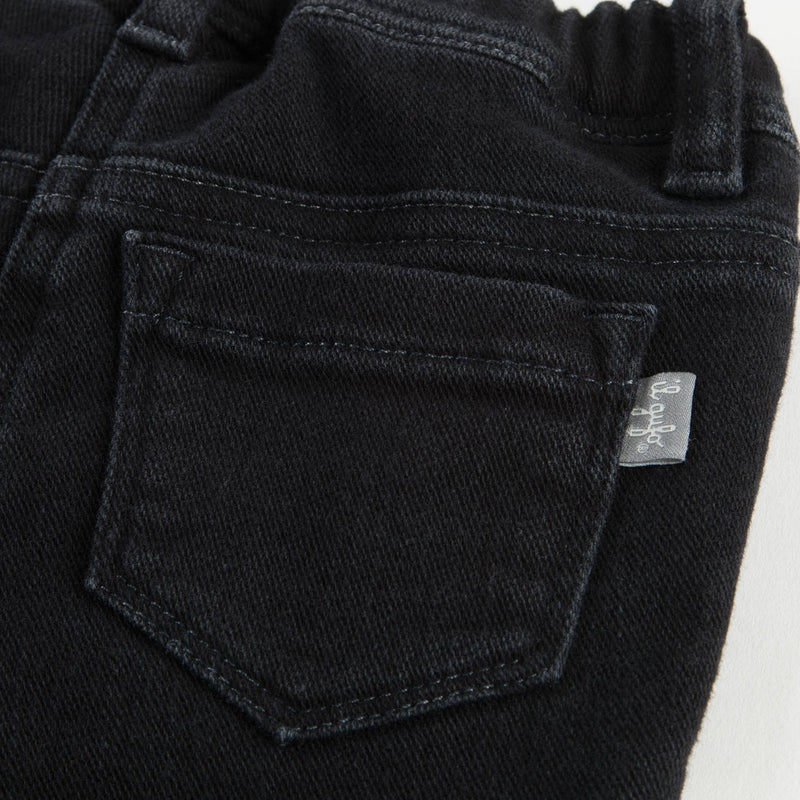 Girls Black Cotton Jeans