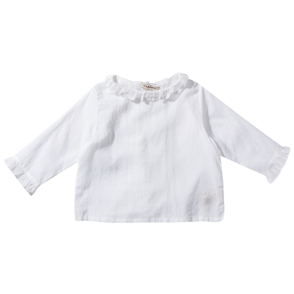 Baby Girls White Woven Top