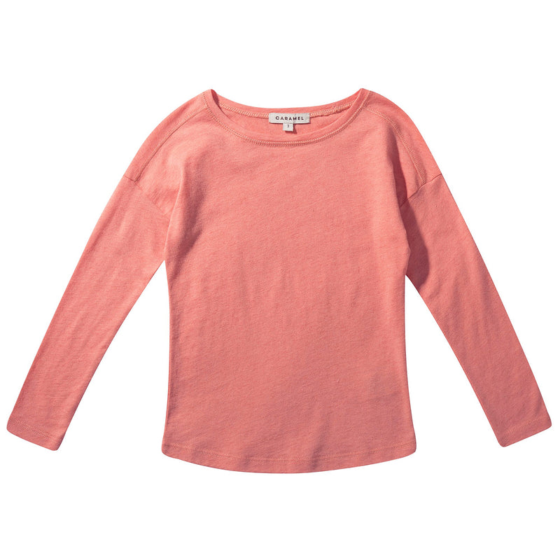 Girls Coral Pink Jersey Top