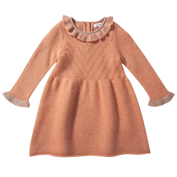 Baby Girls Light Orange Knitted Dress