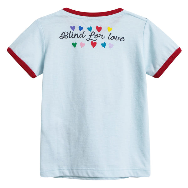 Baby Girls White Heart T-shirt