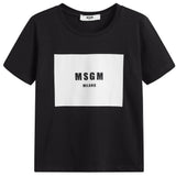 Boys & Girls Black Logo T-shirt