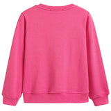 Girls Pink Logo Cotton Sweatshirt