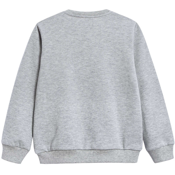Baby Boys Melange Grigi Cotton Sweatshirt
